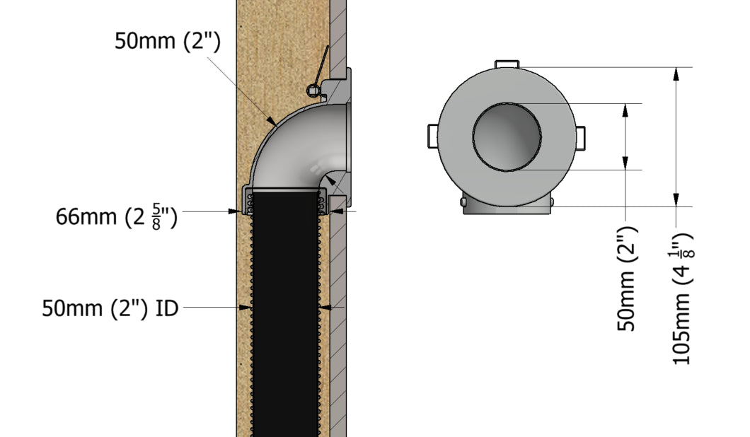 CableClear elbow dimensions to hide tv cables