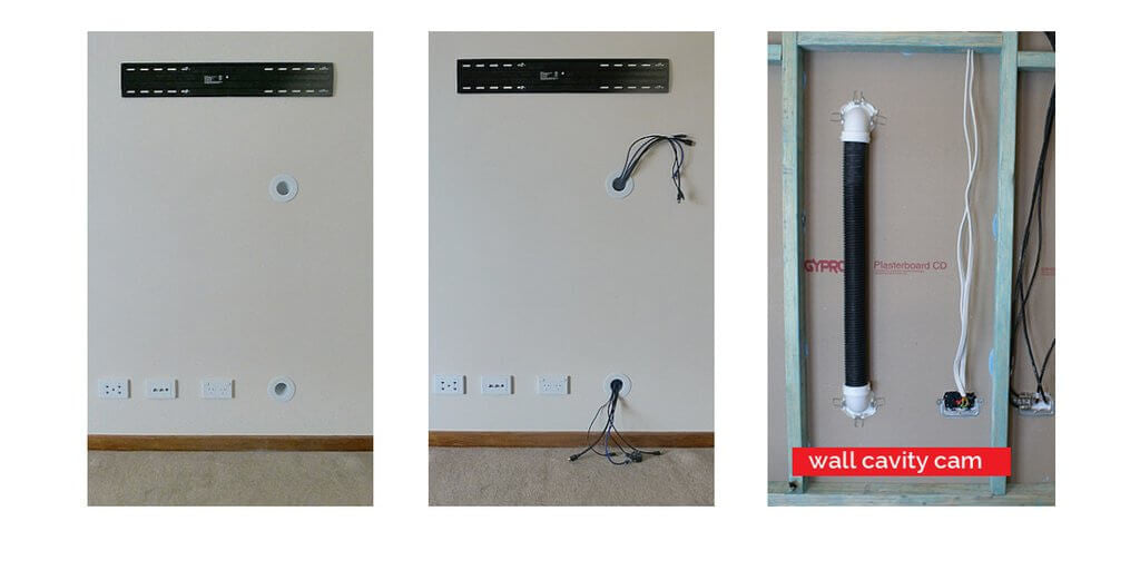 CableClear - it\'s how to hide TV cables for wall mounted TVs