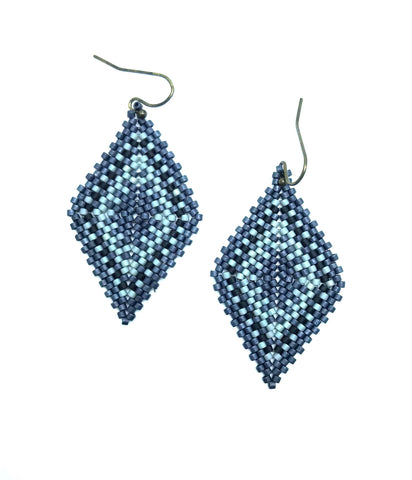 Hishi Earring in Indigo