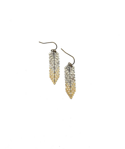Moda Ha Earring in silver, white and gold