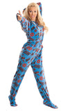 Captain America Adult Footed Hooted Onesie Pajamas