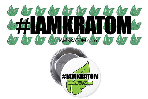 #IAMKRATOM Bumper Sticker & Button COMBO