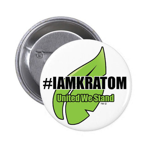 "#IAMKRATOM - Button (2.5"" Round)"