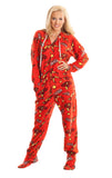Ironman Adult Footed Hooded Onesie Pajamas