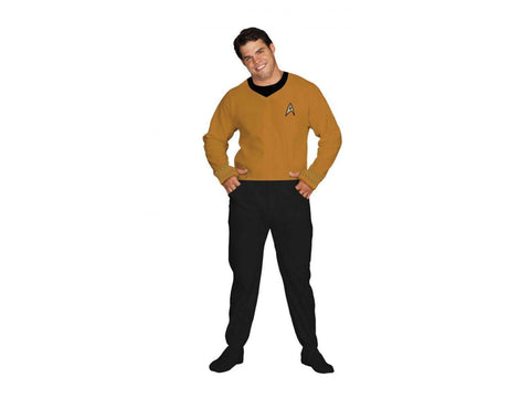 Star Trek Command Gold Footed Onesie Adult Pajamas