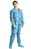 Wolverine Adult Footed Hooted Onesie Pajamas