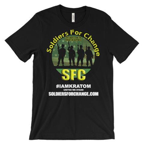 Soldiers For Change - #IAMKRATOM - T-Shirt (Men's/Unisex) - Round Logo