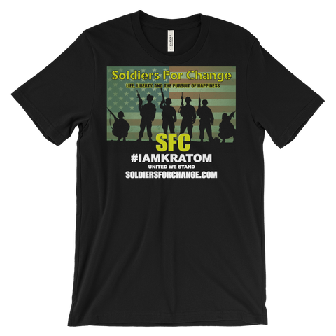 Soldiers For Change - #IAMKRATOM - T-Shirt (Men's/Unisex) - Square Logo