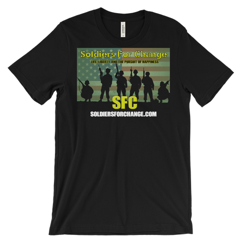 Soldiers For Change T-Shirt - Men's / Unisex - Square Logo