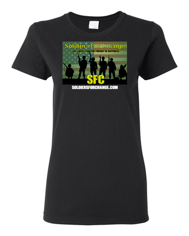 Soldiers for Change - Women's T-Shirt - Square Logo
