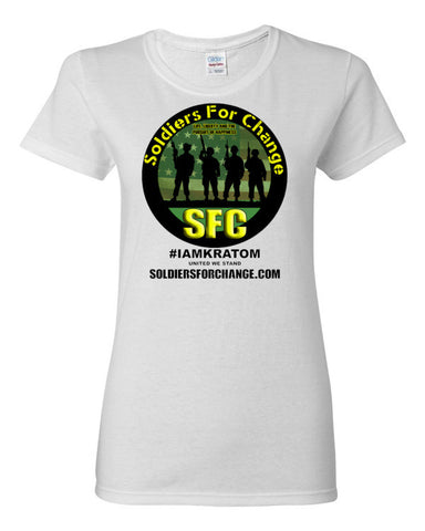 Soldiers For Change - #IAMKRATOM - Women's T-Shirt - Round Logo