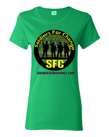 Soldiers For Change - Women's T-Shirt - Round Logo