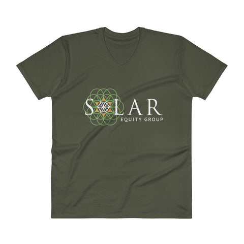 Solar Equity Group - Men's V-Neck T-Shirt