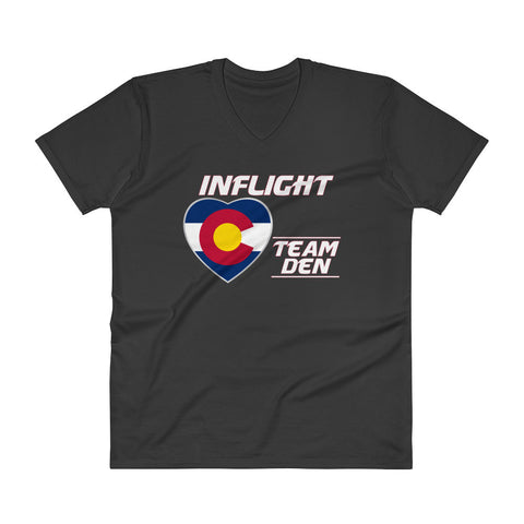 SWA - InFlight – Team DEN Men's Deep V T-Shirt