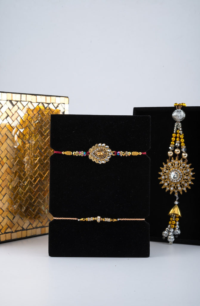 Montagé Golden Rakhi Gift Box - Highline - Upahara - 4