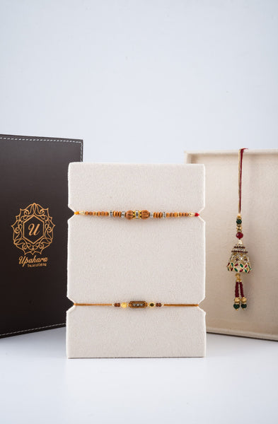 Luxuré Brown Rakhi Gift Box - Minimal - Upahara - 3