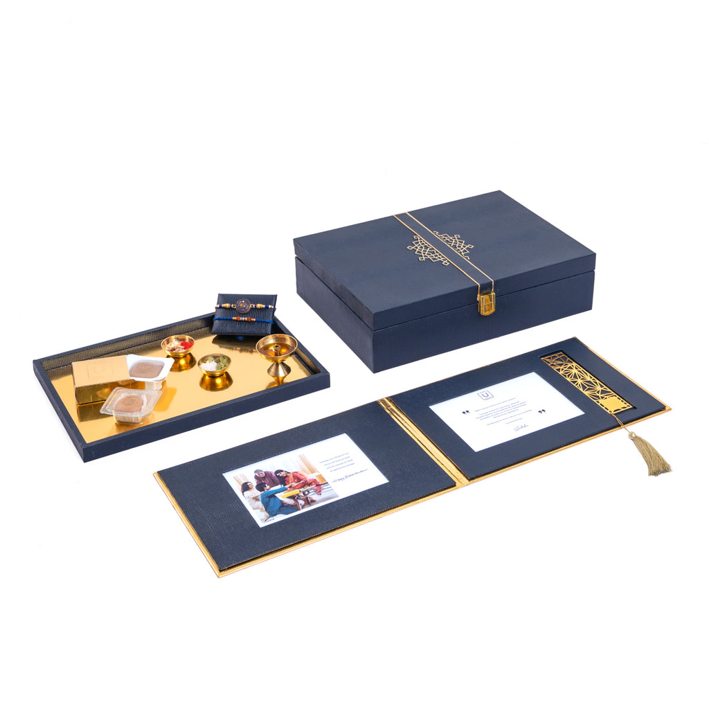 Royale Rakhi Gift Box - Navy - Highline
