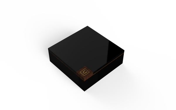 Walnut Trim Lacquered Wood Rakhi Gift Box - Nero - Highline