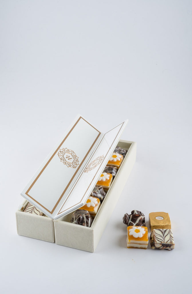 Beaumonté White Rakhi Gift Box - Supreme - Upahara - 7