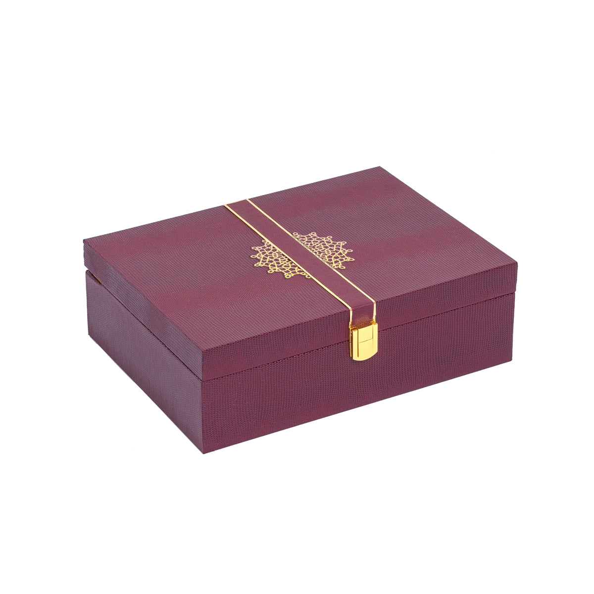 Royale Rakhi Gift Box - Burgundy - Supreme