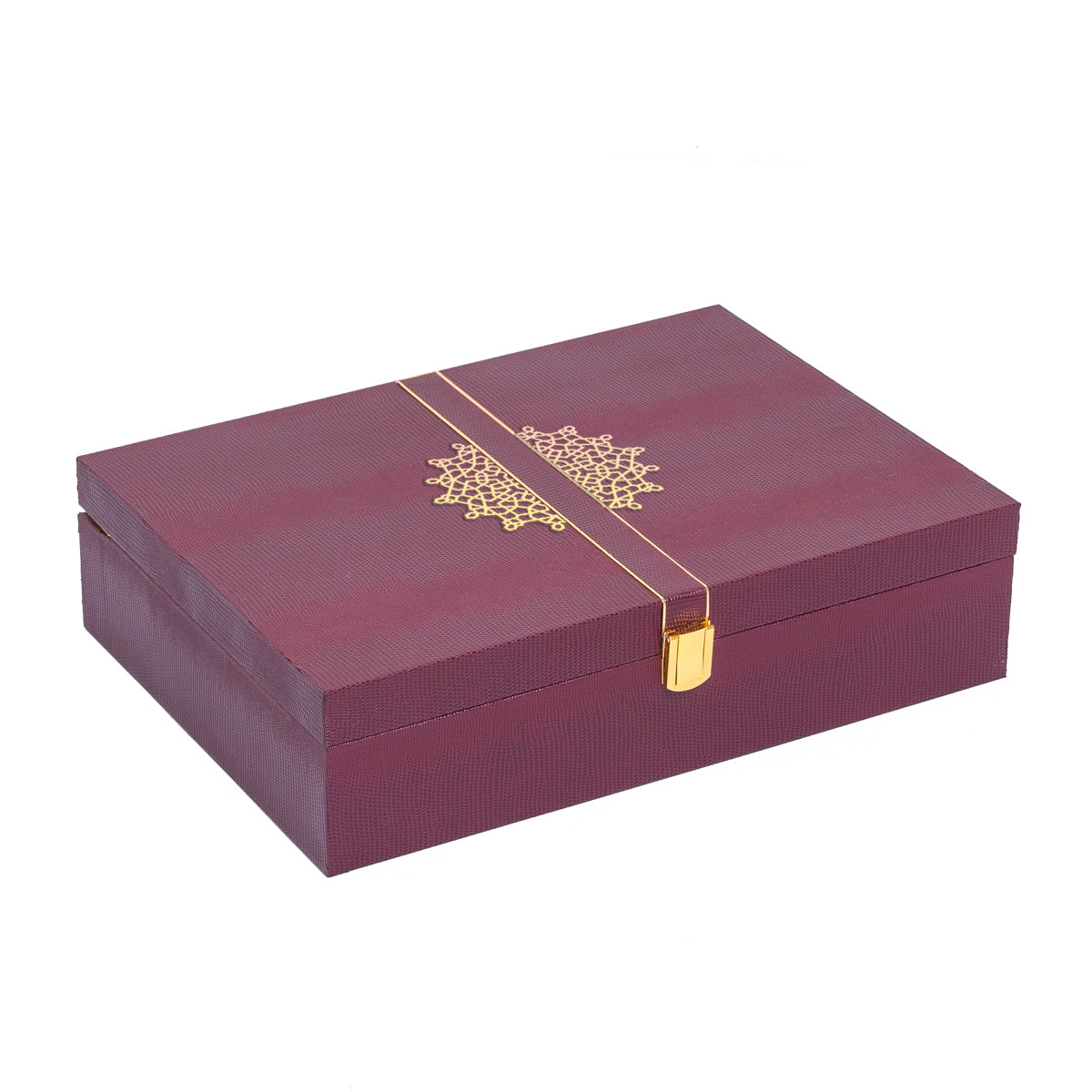 Royale Rakhi Gift Box - Burgundy - Highline