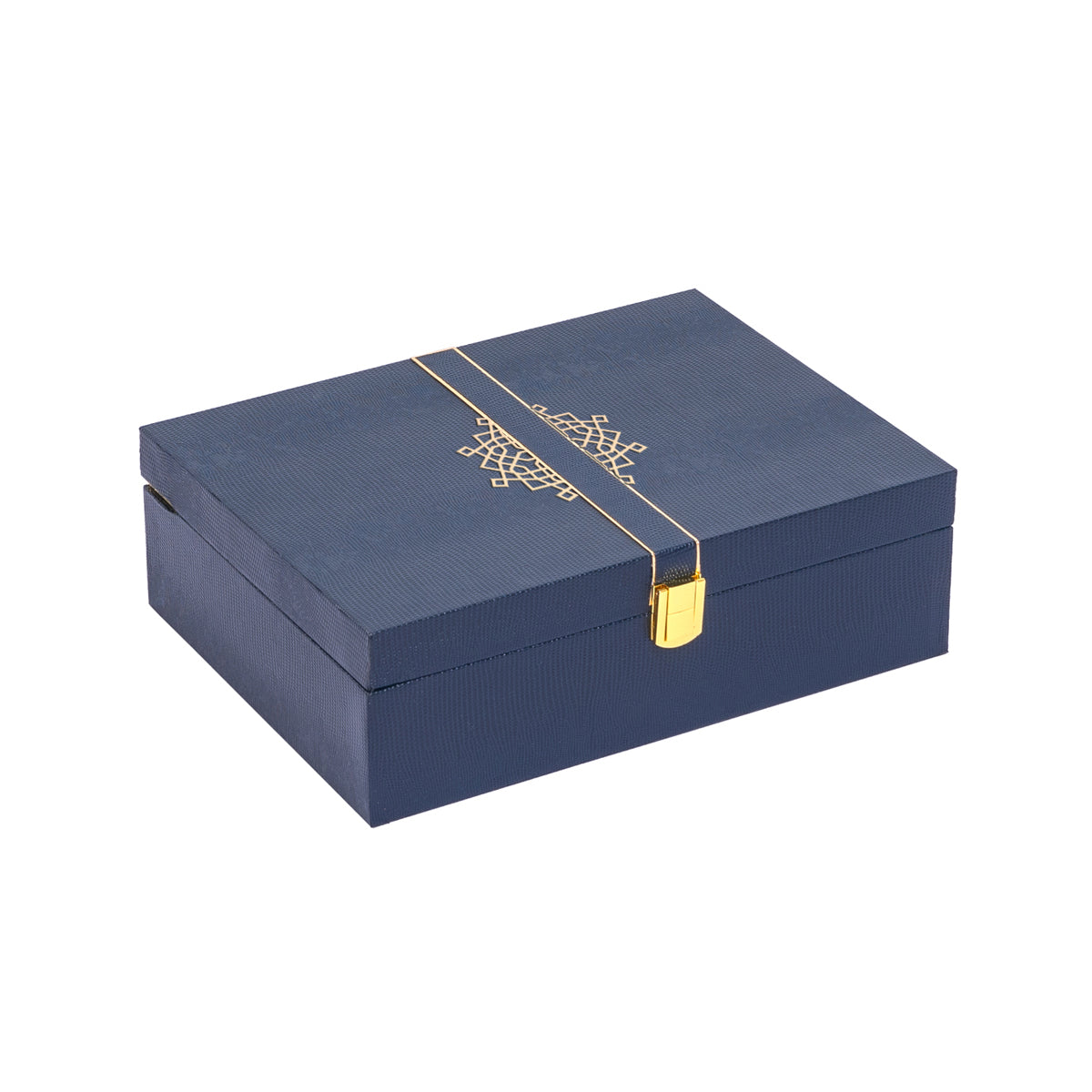 Royale Rakhi Gift Box - Navy - Supreme