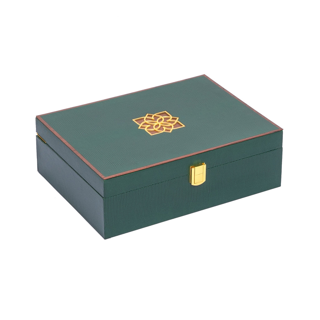 Luxure Rakhi Gift Box - Emerald- Supreme
