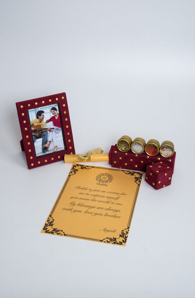 Royalé Cherry Rakhi Gift Box - Highline - Upahara - 4