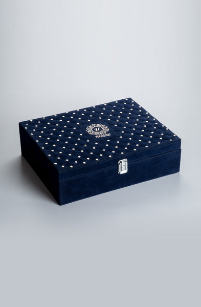 Royalé Blue Rakhi Gift Box - Highline - Upahara - 2