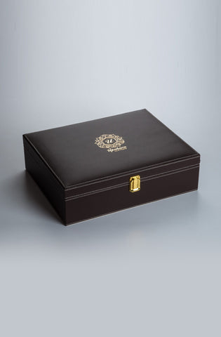 Luxuré Brown Rakhi Gift Box - Highline - Upahara - 1