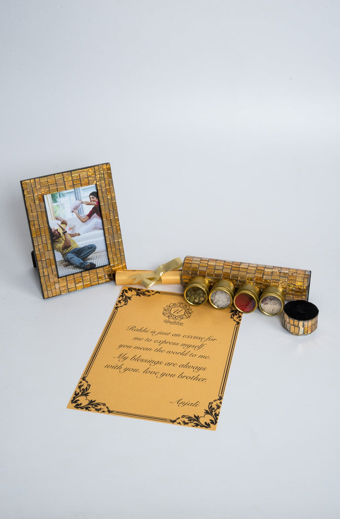 Montagé Golden Rakhi Gift Box - Highline - Upahara - 6