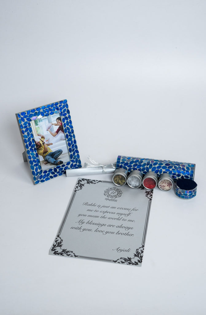 Montagé Blue Rakhi Gift Box - Highline - Upahara - 4