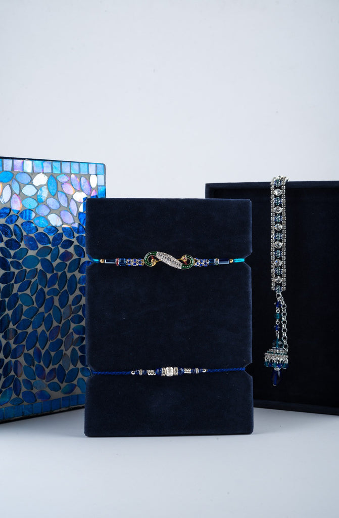 Montagé Blue Rakhi Gift Box - Highline - Upahara - 5