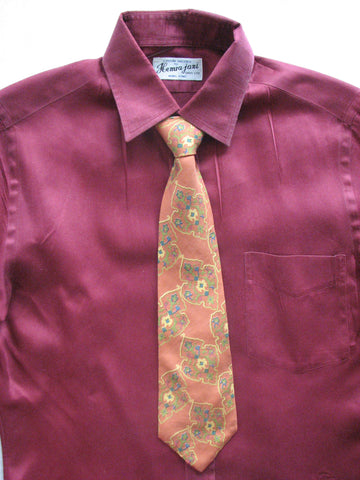 Tie - Rare Vintage Brian Bubb Orange Pattern