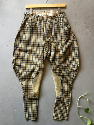 vintage 1930's wool plaid jodhpurs