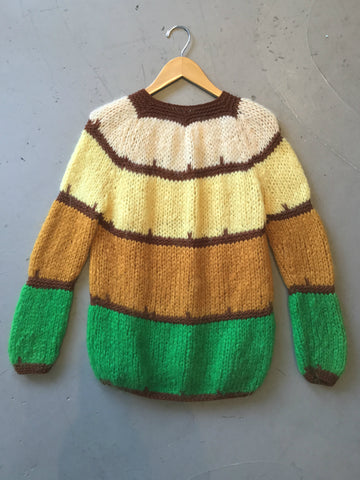 vintage 60s colorblock sweater