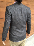 vintage 80s armani suit jacket, rear view