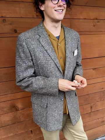 vintage 50s tweed jacket