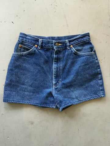 vintage 90's Lee blue denim high waist jean shorts