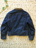 vintage 60s lee storm rider denim jacket, rear view
