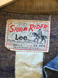 vintage 60s lee storm rider denim jacket , tag close up