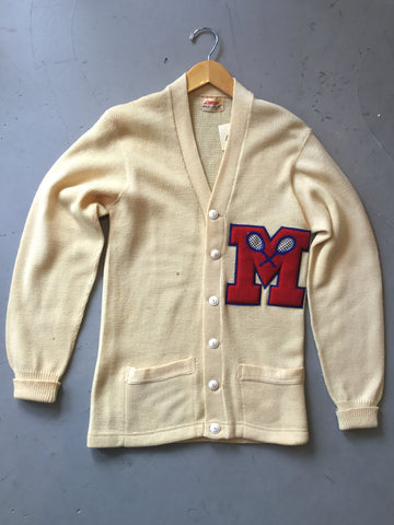 vintage 1950s letterman sweater