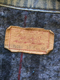 vintage 70s levi's denim jacket, tag closeup