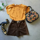 vintage 80's boxy top, styled in an outfit