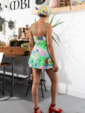 vintage floral playsuit, rear view