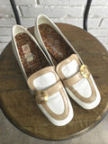 vintage 60s mod buckle loafer shoes