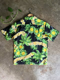vintage 1960s pineapple print hawaiian shirt, rear view