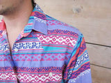S - Vintage 1980's Geometric Western Button Down