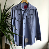 L - Vintage 1980's United States Navy Long Sleeve Button Down Work Shirt