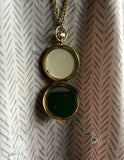 Vintage Estee Lauder Statement Necklace with Compact Pendant